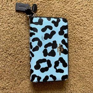 Coach Cheetah Print Double Zip Mini
